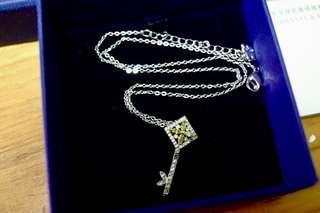 Swarovski ✨engaged small 黃色水晶鎖匙頸鏈