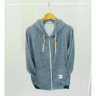 SWEATER STEIGEN NAVY TWOTONE WHITE ZIP WHITE