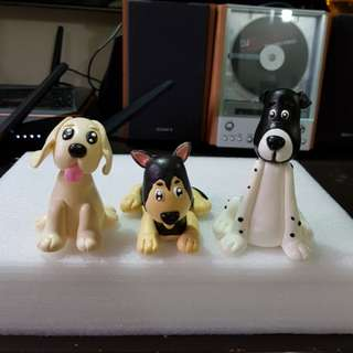 Customise cartoon dog figurines made by air dry clay