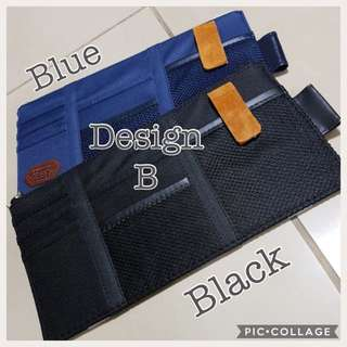 Car Organisers w/Compartments | Car sun visor pocket organiser | Fabric material | 👉 Elastic Bands