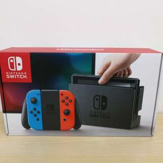 (Brand New) Nintendo Switch Neon Blue / Red Stand Alone Console with 1 Year Warranty By Singapore Nintendo Distributor