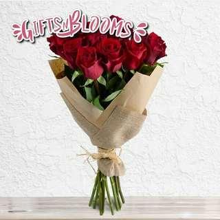 Fresh Flower Bouquet Surprise for Special Anniversary Birthday Gift V5 - FFQRQ