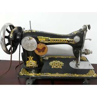 Vintage Butterfly Sewing Machine
