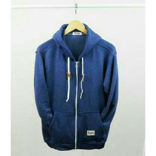 SWEATER STEIGEN NAVY ZIPPER WHITE
