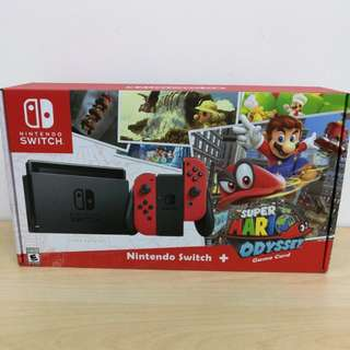 (Brand New) Nintendo Switch Console With Super Mario Odyssey and 1 Year Warranty by Singapore Nintendo Distributor (Maxsoft)