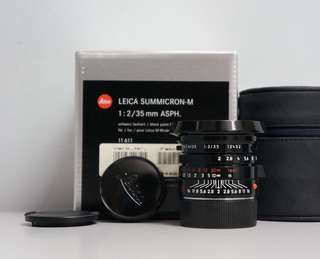 Leica 35mm summicron blackpaint LIMITED