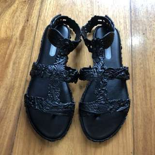 Authentic Pre-owned Melissa Campana Barroca Sandal Black