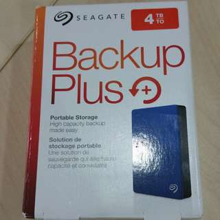 Seagate Backup Plus 4TB external hard drive portable HDD