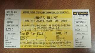 James Blunt 演唱會2018