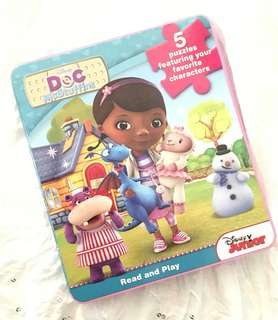 Charity Sale! Disney Doc McStuffins 5 Puzzles Read and Play Children's Book