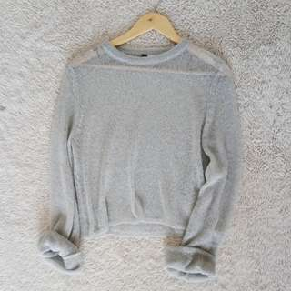 🌻H&M soft almost see-thru sweater