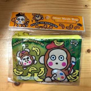 Sanrio Osaru no Monkichi 馬騮仔散銀包/卡套/卡袋/小物袋 Coin bag/ Card holder/ Zip bag/ Mini Mesh bag