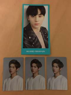 Wanna One Official Photocards