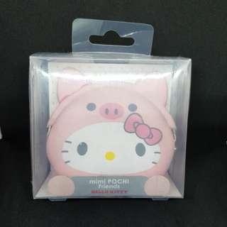 Hello kitty piggy silicone pouch