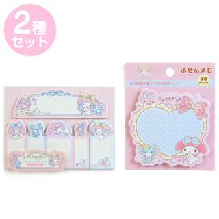 Japan Sanrio My Melody Tack Memo & Sticky Notes Set