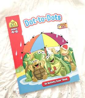 Charity Sale! School Zone Ages 4-6 Dot to Dots Book New
