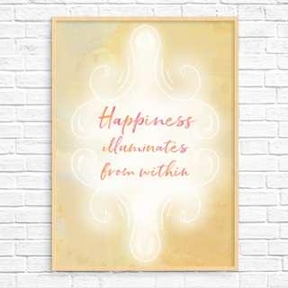 Original Art Print: Happiness Illuminates