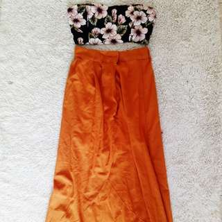 🌞Sunset Sexy Skirt with front Slit.