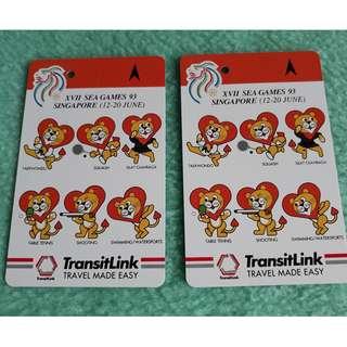 Transitlink Cards Sea Games Singapore 1993