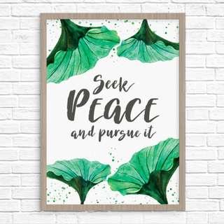 Original Art Print: Seek Peace