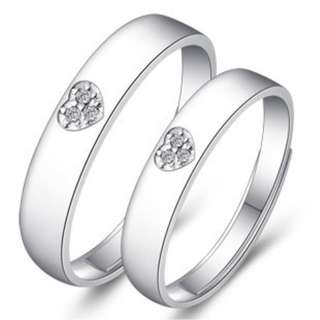 Sliver 925 Couple Ring(CR-010)