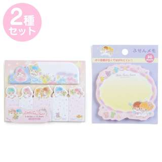 Japan Sanrio Little Twin Stars Tack Memo & Sticky Notes Set