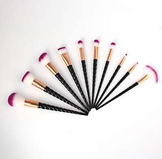 10 pcs Unicorn Makeup Brushes