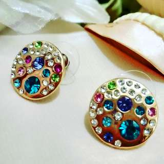 Krystal Couture Talulla 18K Rose Gold & Swarovski Crystals Earrings (18k鍍玫瑰金併施華洛世奇水晶耳環)