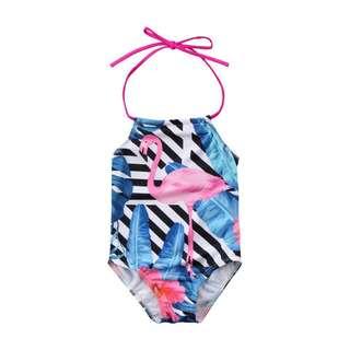 Halter Flamingo Swimsuit