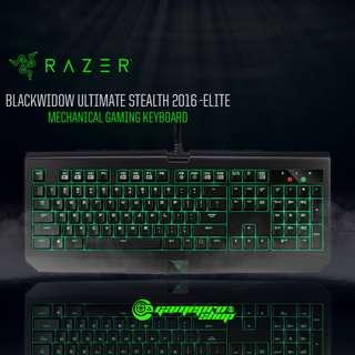 Razer Blackwidow Ultimate 2016 Stealth Gaming Keyboard (Orange Switch – Silent) (RZ03-01701600-R3M1)