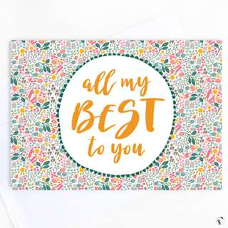 All My Best To You Greeting Card
