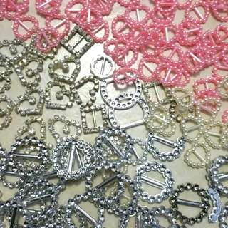 Mixed Embellishments & Ribbon Buckle Sliders Lot
