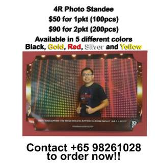 4R Photo Standee for sale!! Able to stand in portrait or landscape!! 5 different colors available!!