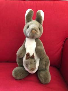 Preloved mother and baby kangaroo. 12 inches height