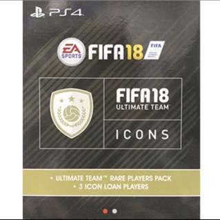 FIFA 18 PS4 Ultimate Team 3 Icon Player