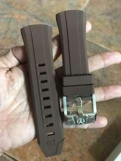 TechnoMarine Strap Brown Silicon 45mm
