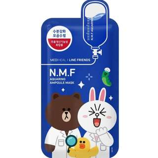 (10 pieces) Mediheal | Line Friends N.M.F Aquaring Ampoule Mask