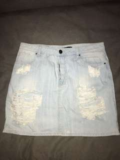 Denim skirt//size 14