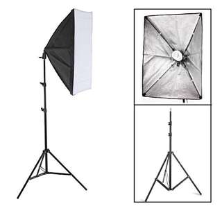 2x Softbox Photography Lights 50cmx70cm, 2m tripod stands