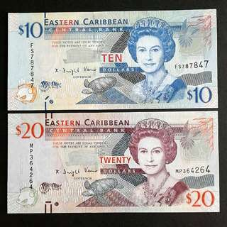 2012 Eastern Caribbean Banknotes
