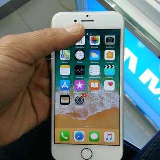 Iphone 7 128gb Silver mulus ex international no kendala hp+carger