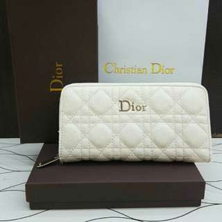 Lady Dior Wallet Beige Color