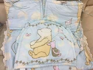 嬰兒床圍 床笠  被子 一套五件