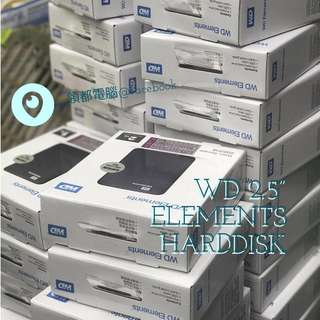 全新行貨- Western Digital WD Elements Portable 1/ 2TB USB3.0 HDD 外置硬盤
