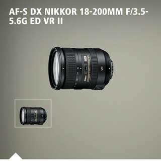 NIKON 18-200 VR2 ED SWM LIKE NEW FULL SET IN BOX LOCAL SET