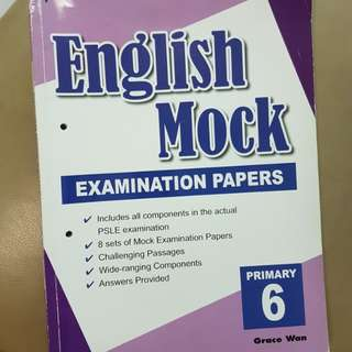 P6 English exam paper practise paper 4 to 8 new. with ans.