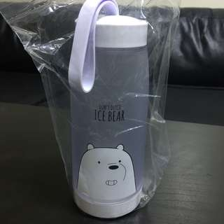 Miniso We Bare Bears Ice Bear Plastic Bottle