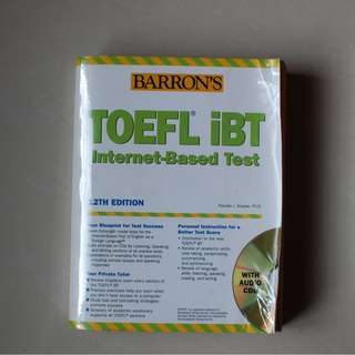 Barron's TOEFL iBT Internet Based Test 12th Edition with 10 Audio CDs - Pamela J. Sharpe, Ph.D.