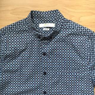 TOPMAN Blue Patterned Shirt