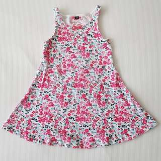Pretty Pink Floral Summer Dress